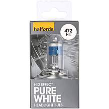 image of Halfords 472 H4 Pure White HID Effect Car Bulb x 1