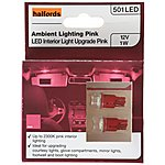 image of Halfords Ambient Interior Bulb 501 x 2 Pink