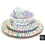 image of Olpro 16 Piece Berrow Hill Tableware Melamine Set