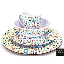 image of Olpro 8 Piece Berrow Hill Melamine Set