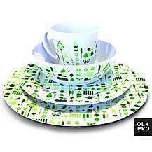image of Olpro 16 Piece Bewdley Melamine Tableware Set