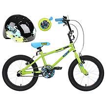 image of Apollo Ace Kids' Bike, Helmet & Bell Bundle