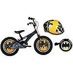 """image of Batman Boys Bike 16"""", Helmet & Bell Bundle"""