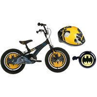 "Batman Boys Bike 16"", Helmet & Bell Bundle"
