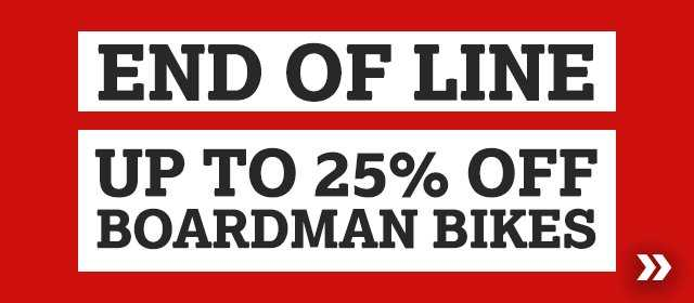 End of line Up to 25% off Boardman bikes