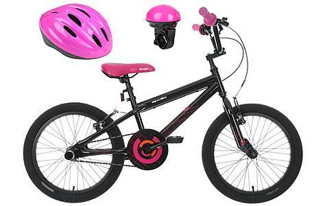 image of Apollo Boogie Bike, Electric Bell & Purple Helmet bundle