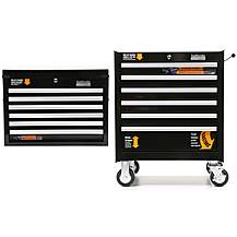 image of Halfords Industrial 6 Drawer Ball Bearing Tool Cabinet & Chest Bundle
