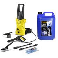 Karcher K2 Car Pressure Washer and 5L Shampoo Bundle