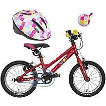 "image of Carrera Star 14"" Kids' Bike, Helmet & Bell Bundle"