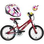 "image of Carrera Star 14"" Kids' Bike, Helmet & Bell Bundle"