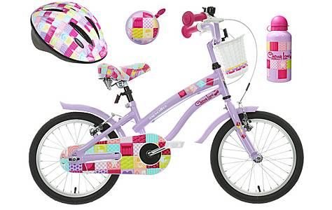 image of Apollo Cherry Lane Kids' Bike, Helmet, Bell & Bottle Bundle