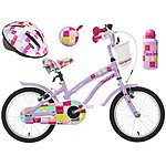 image of Apollo Cherry Lane Kids' Bike, Helmet, Bell & Bottle Bundle