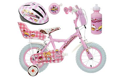 image of Apollo Cupcake Kids' Bike, Helmet, Bell & Bottle Bundle