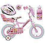 image of Apollo Cupcake Kids' Bike, Helmet, Bell & Bottle Bundle