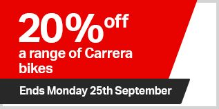 20% off a range of Carrera bikes