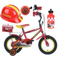 Apollo Firechief Kids' Bike, Helmet, Bell & Bottle Bundle