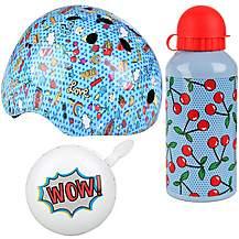 image of Food Junior Helmet, Bottle & Bell Bundle