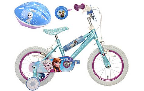 image of Disney Frozen Kids' Bike, Helmet & Bell Bundle