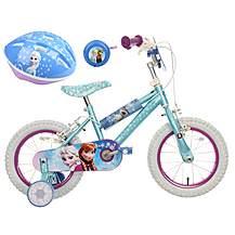 image of Disney Frozen Kids' Bike, Helmet & Bell Bundle