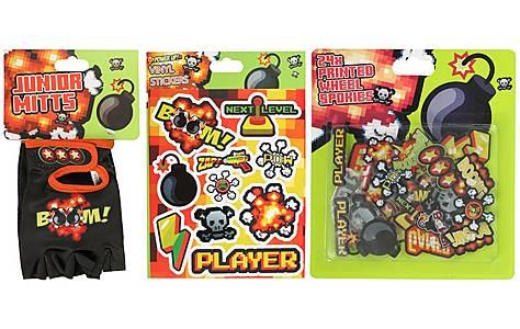 image of Gamer Mitts, Spokies & Vinyl Stickers Bundle