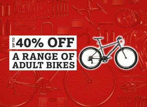 Up to 40% off a range of Adult Bikes