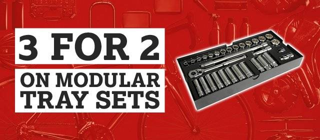 3 for 2 on all modular tray sets