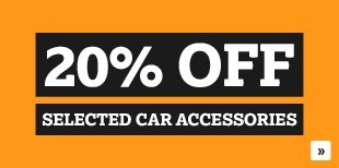 20% Off Selected Car Accessories