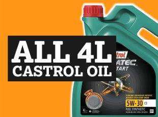 all 4L Castrol Oil