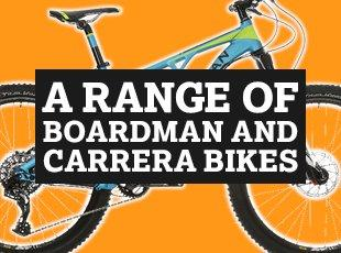 A Range of Boardman and Carrera Bikes