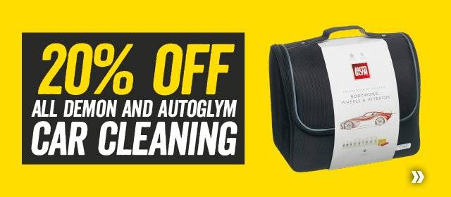 20% off all Demon and Autoglym Car Cleaning