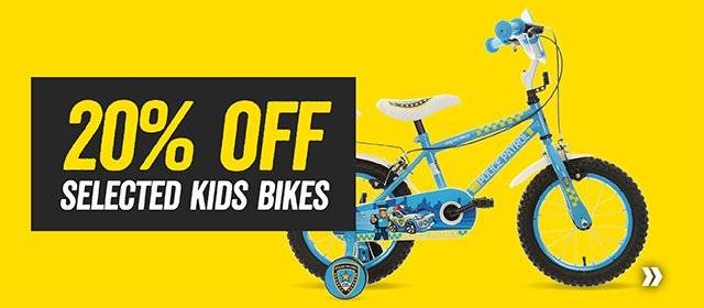 20% off selected Kids bikes