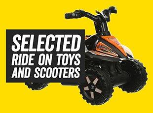 selected Ride on Toys and Scooters