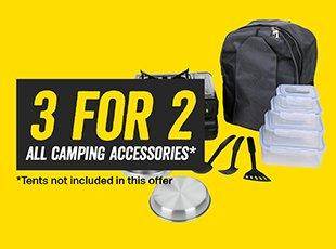3 for 2 on all Camping Accessories
