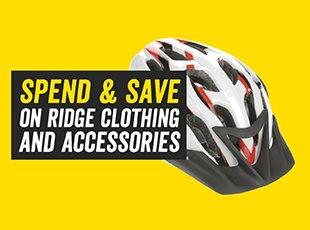 Spend and save on Ridge clothing and accessories