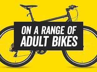 on a Range of Adult bikes