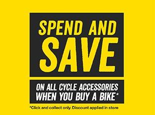 Spend and Save on Cycle Accessories when you buy a Bike