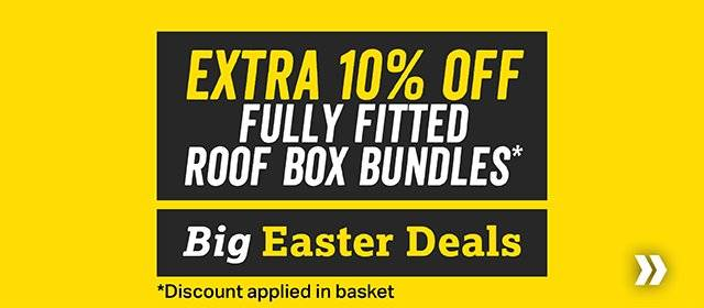 Extra 10% off fully fitted roofbox bundles
