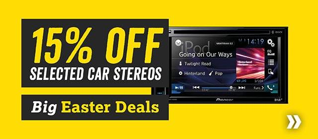15% off selected car stereos