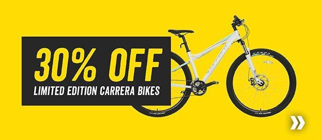 30% off Limited Edition Carrera Bikes