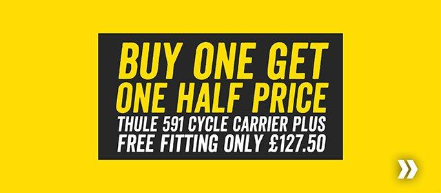 Buy one get one half price on Thule 591 including fitting only £127.50