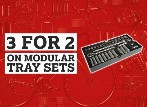 3 for 2 on modular tray sets