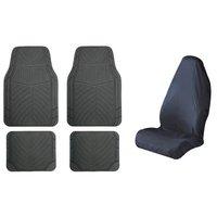 Halfords Rubber Car Mats & Car Seats Protectors Bundle