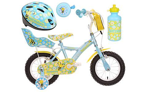 image of Apollo Honeybee Kids' Bike, Helmet, Bell & Bottle Bundle