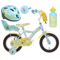 Apollo Honeybee Kids' Bike, Helmet, Bell & Bottle Bundle