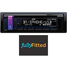 image of JVC KD-R881BT Car Stereo Fully Fitted Bundle