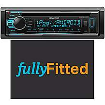 image of Kenwood KDC-210UI Car Stereo Fully Fitted Bundle