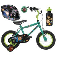 Apollo Marvin the Monkey Kids' Bike, Helmet, Bell & Bottle Bundle