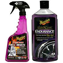 image of Meguiars Hot Rims All Wheel Cleaner & Endurance High Gloss Tyre Protectant Bundle