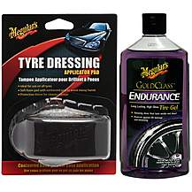 image of Meguairs Endurance High Gloss Tyre Protectant & Tyre Dressing Applicator Bundle