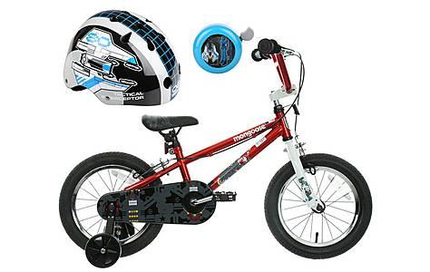 image of Mongoose Scan R14 Kids' BMX Bike, Helmet & Bell Bundle